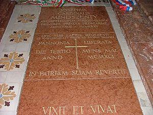 Mindszenty sírja Mariazellben