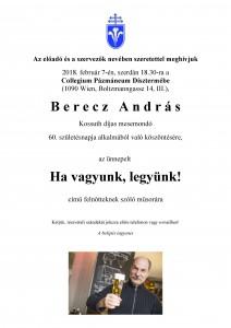 Meghívó Berecz 60 j.